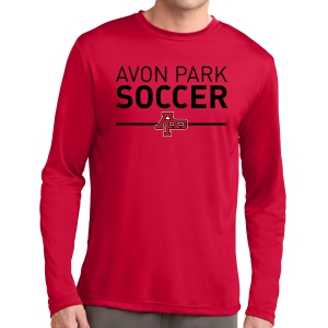 Avon Park Soccer Long Sleeve Performance Shirt - Red AP-ST350LS-R