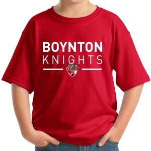 Boynton Knights Youth T-Shirt - Red 5000B-BKR