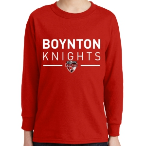 Boynton Knights Youth Long Sleeve T-Shirt - Red 5400B-BKR