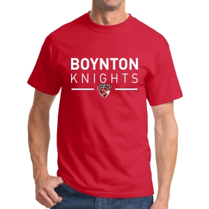 Boynton Knights T-Shirt - Red G500-RD