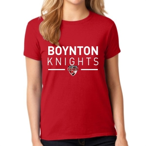 Boynton Knights Women's T- Shirt - Red G5000L-BKR