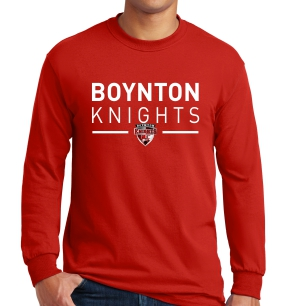 Boynton Knights Long Sleeve T-Shirt - Red G5400-RD