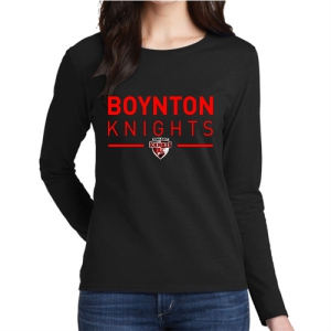 Boynton Knights Women's Long Sleeve T-Shirt - Black G5400L-BK