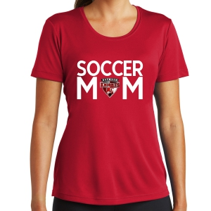 Boynton Knights Women's Soccer Mom Performance Shirt - Red LST350-BK