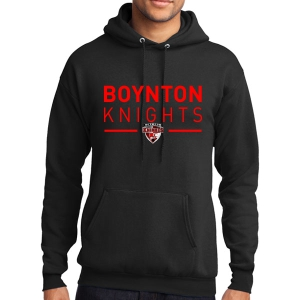 Boynton Knights Hooded Sweatshirt - Black PC78H-BK