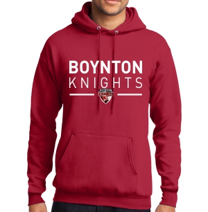 Boynton Knights Hooded Sweatshirt - Red PC78H-BKR