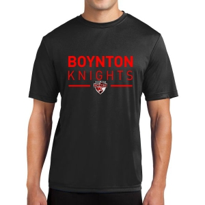 Boynton Knight Short Sleeve Performance Shirt - Black ST350-BK