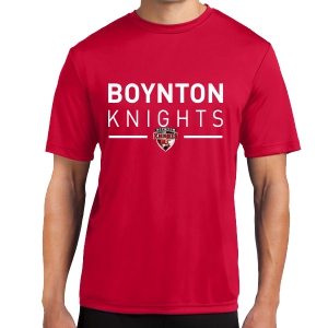 Boynton Knights Short Sleeve Performance Shirt - Red ST350-BKR