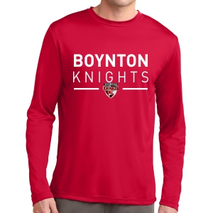 Boynton Knights FC Long Sleeve Performance Logo Shirt - Red ST350LS-BKR