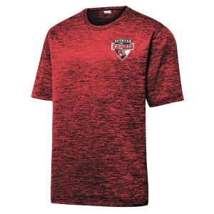 Boynton Knights Heather Performance Shirt - Dark Red/Black/Electric ST390-BK