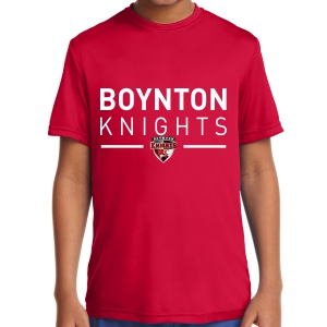 Boynton Knight Youth Short Sleeve Performance Shirt - Red YST350-BKR