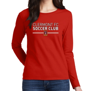 Clermont FC Women's Long Sleeve T-Shirt - Red G5400LRd