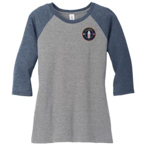 Clermont FC District Women's Tri 3/4 Raglan Sleeve - Navy/Grey DM136L-CFC