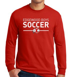 Edgewood High School Long Sleeve T-Shirt - Red EWHS-G5400-Rd