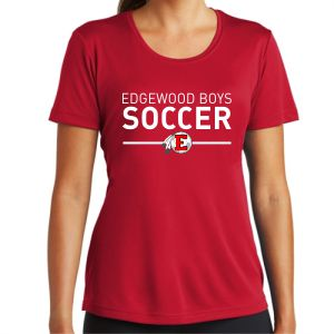 Edgewood High School Women's Performance Shirt - Red EWHS-LST350-Rd