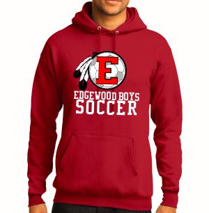 Edgewood High School Hooded Sweatshirt - Red EWHS-PC78H-Rd