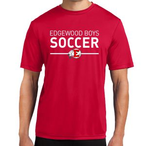 Edgewood High School Short Sleeve Performance Shirt - Red EWHS-ST350-Rd