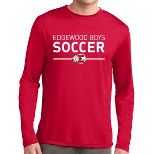 Edgewood High School Long Sleeve Performance Shirt - Red EWHS-ST350LS-Rd