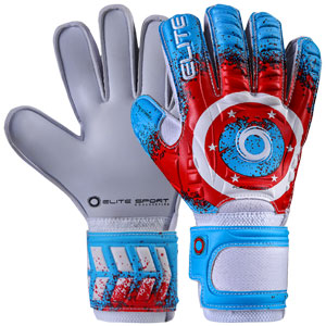 Elite Stars Goalkeeper Gloves - Blue/Red ELITESTARS