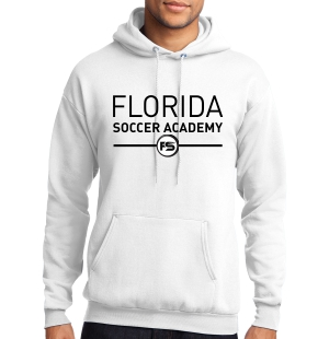 Florida Soccer Academy Hooded Sweatshirt - White FSA-PC78HWhi