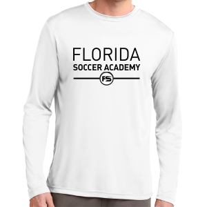 Florida Soccer Academy Long Sleeve Performance Shirt - White FSA-ST350LSWhi