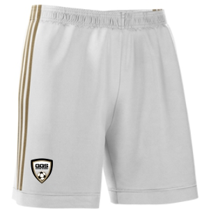 Golden Goal Sports adidas mi Squadra 17 Shorts - White/Gold GGS-CF0394WG