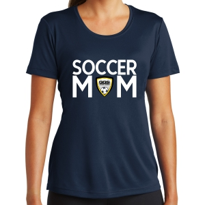 Golden Goal Sports Women's Soccer Mom Performance Shirt - Navy LST350-GGS