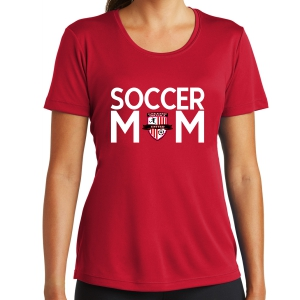 Greater Osceola United Women's Soccer Mom Performance Shirt - Red LST350-GOU