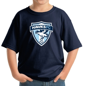 Florida Hawks FC Youth Supporter Logo T-Shirt - Navy 5000B-FHFC-L