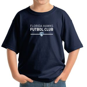 Florida Hawks FC Youth Supporter T-Shirt - Navy 5000B-FHFC