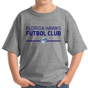 Florida Hawks FC Youth Supporter T-Shirt - Grey 5000B-FHFCG