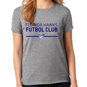 Florida Hawks FC Supporter Women's T-Shirt - Navy 5000L-FHFC
