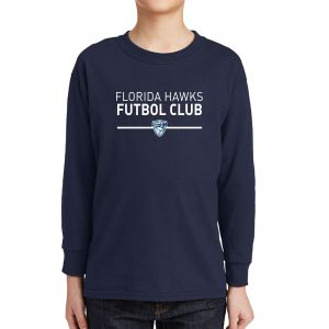 Florida Hawks FC Youth Long Sleeve Supporter T-Shirt - Navy 5400B-FHFC