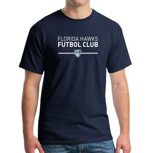 Florida Hawks FC Supporter T-Shirt - Navy G5000-FHFC