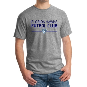 Florida Hawks FC Supporter T-Shirt - Grey G5000-FHFCG