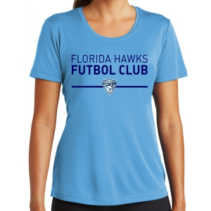 Florida Hawks FC Women's Performance Shirt - Light Blue LST350-FHFCLB