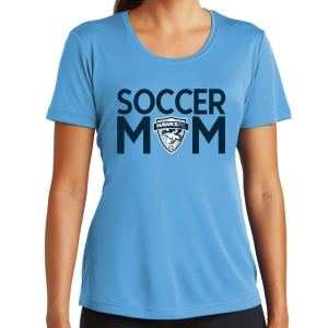 Florida Hawks FC Women's Soccer Mom Performance Shirt - Light Blue LST350-FHFCSM