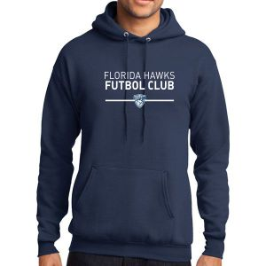 Florida Hawsk FC Club Hooded Sweatshirt - Navy PC78H-FHFC
