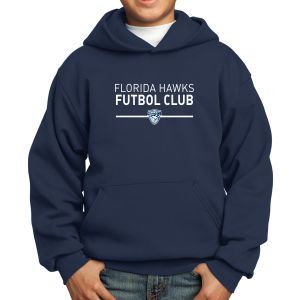 Florida Hawks FC Youth Hooded Sweatshirt - Navy PC90YH-FHFC