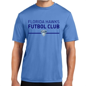 Florida Hawks FC Short Sleeve Performance Shirt - Light Blue ST350-FHFCLB