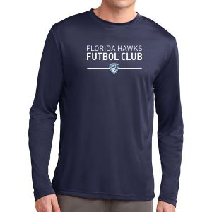 Florida Hawks FC Long Sleeve Performance Shirt - Navy ST350LS-FHFC