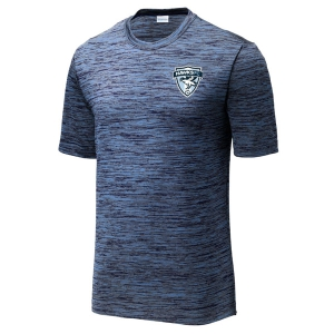 Coral Spring United Heather Performance Shirt - Carolina Blue/True Navy/Black ST390-FHFC
