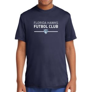 Florida Hawk FC Youth Short Sleeve Performance Shirt - Navy YST350-FHFC