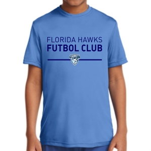 Florida Hawk FC Youth Short Sleeve Performance Shirt - Light Blue YST350-FHFCLB