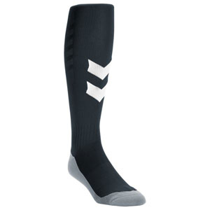 Hummel Fundamental Soccer Sock - Black/White 37000