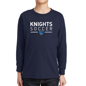 Inter United Academy Youth Long Sleeve T-Shirt - Navy 5400B-IUA