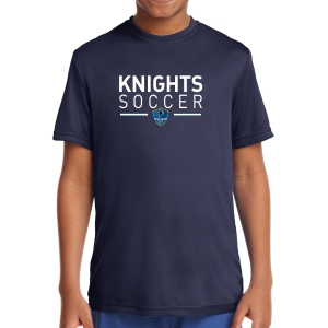 Inter United Academy Youth Short Sleeve Performance Shirt - Navy YST350-IUA