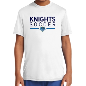 Inter United Academy Youth Short Sleeve Performance Shirt - White YST350W-IUA