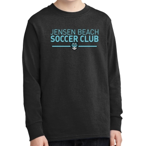 Jensen Beach Youth Long Sleeve T-Shirt - Black JB-PC54YLS-Blk
