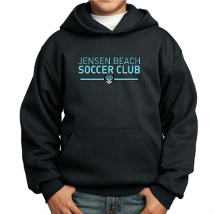 Jensen Beach Youth Hooded Sweatshirt - Black JB-PC90YH